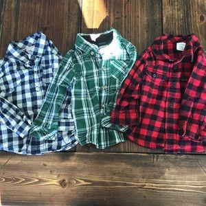 Boys 9m button up shirts